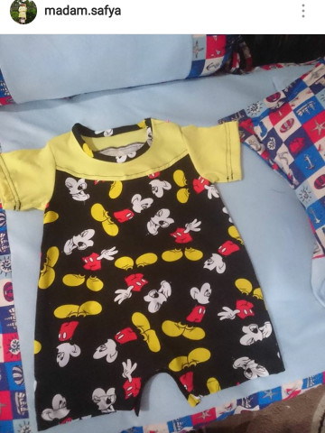 Photo 2 of Baby romper TP-488001 Customade baby romper ..fabric can be choose..