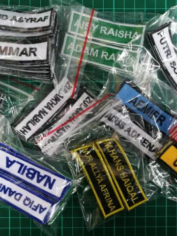 Photo 3 of TANDA NAMA SEKOLAH TP-499002 TANDA NAMA SEKOLAH warna kain & benang boleh dipilih.  Tiada minimum order dan kami juga terima tempahan pukal.