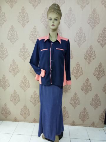 Photo 1 of Baju korporat TP-501002 Gabungan 2 warna, tangan berkaf kemeja dan poket sorok.. Leher kontinental.