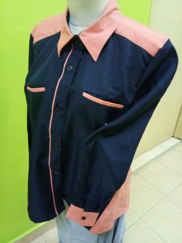 Photo 3 of Baju korporat TP-501002 Gabungan 2 warna, tangan berkaf kemeja dan poket sorok.. Leher kontinental.