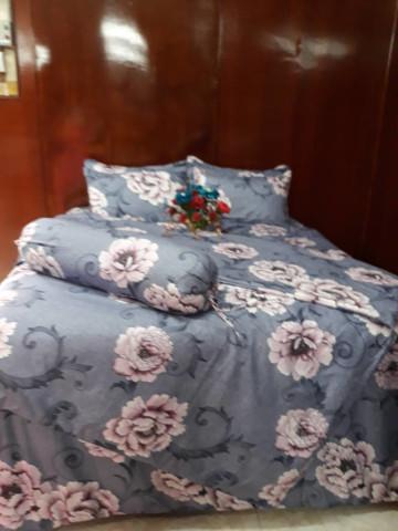 Photo 1 of Cadar saiz queen TP-501003 Cadar bergetah atas dan bawah, 4 sarung bantal dan 1 sarung bantal peluk dan sehelai comforter