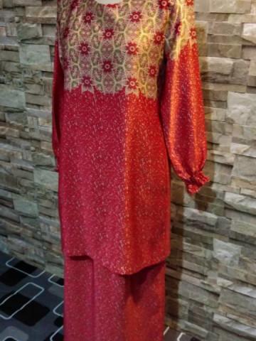 Photo 1 of Baju kurung moden TP-247002 Baju kurung moden Kain lipat belakang