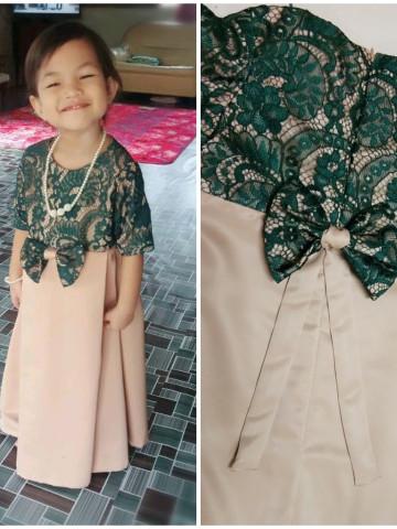 Photo 1 of Dress Kanak Kanak TP-527006 Dress kanak kanak berpleated berlace dan ditambah dengan aksesori reben