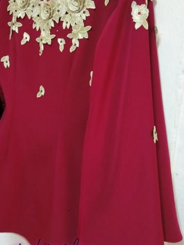 TP-527007 Baju Kurung Moden Lengan Bercape