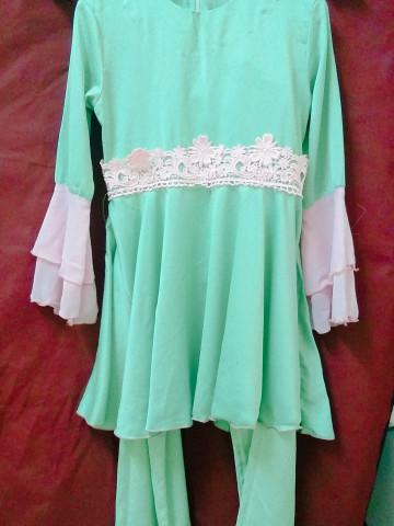 TP-584002 - Zulaika, Gabungan rekaan kurung moden dan dress dipadankan dengab seluar ala palazo
