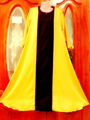 Photo 1 of Jubah TP-602001 Jubah wanita dengan campuran warna kain