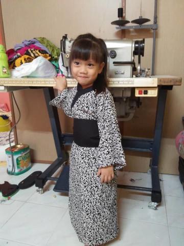 Photo 2 of Kimono kanak-kanak TP-222004 Kain cotton-kanak2 lelaki & perempua n Upah jahit rm30