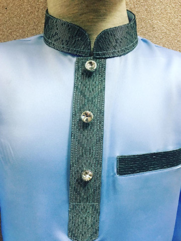 Photo 1 of Baju Melayu Moden BMM-006 Menerima tempahan baju melayu moden. Boleh ditambah songket di poket dan leher baju atas permintaan anda.   Harga cuma RM90 sahaja