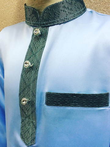 Photo 2 of Baju Melayu Moden BMM-006 Menerima tempahan baju melayu moden. Boleh ditambah songket di poket dan leher baju atas permintaan anda.   Harga cuma RM90 sahaja