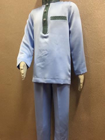 Photo 3 of Baju Melayu Moden BMM-006 Menerima tempahan baju melayu moden. Boleh ditambah songket di poket dan leher baju atas permintaan anda.   Harga cuma RM90 sahaja