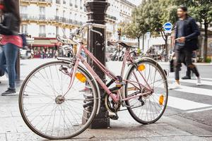 Bike pink paris bicycle 611229