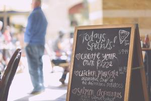 Handwritten italian marketing menu