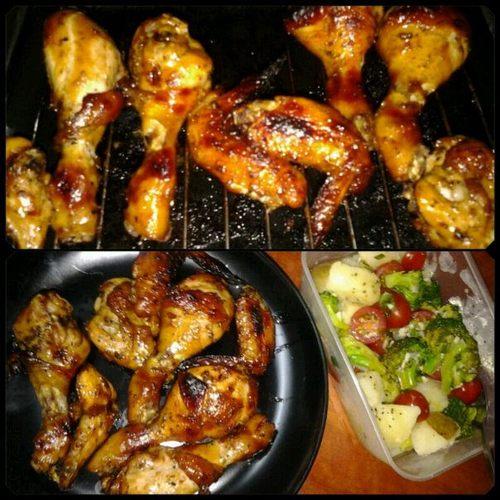 Ayam Bakar Bbq Dan Salad Kentang Myresipi Com