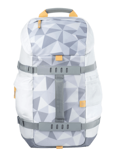 HP 15.6 Odyssey Backpack, White Facet