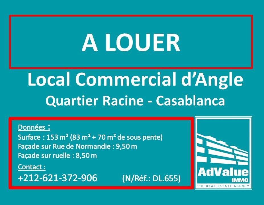 DL.655 : Local commercial d'angle à Racine :
