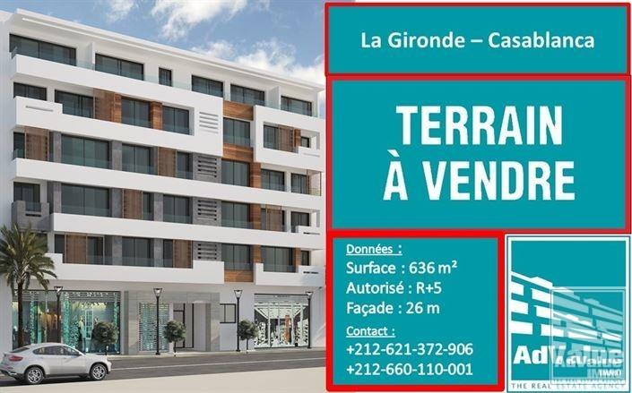 DV.545 : Terrain à vendre en R+5 à la Gironde :