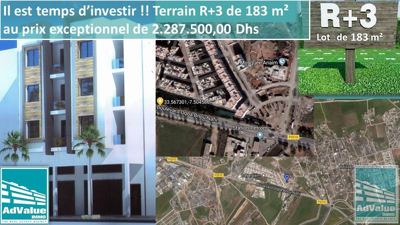 DV.277 : Terrain R+3 à Sidi Moumen