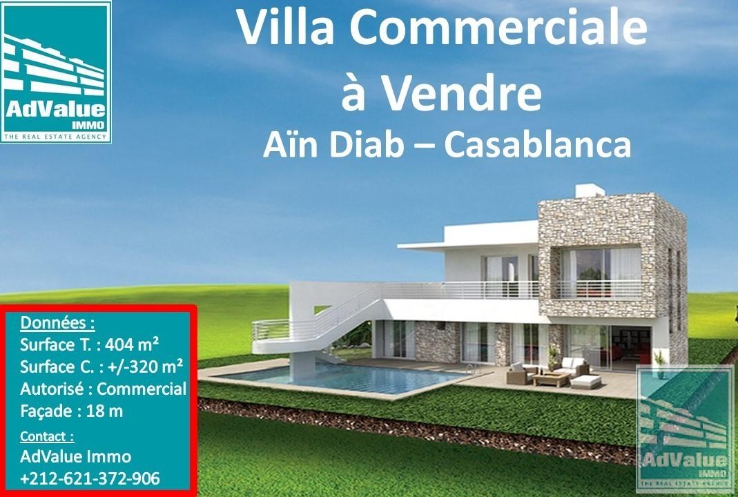 DV.422 : Villa Commercial à Aïn Diab de 404 m² :