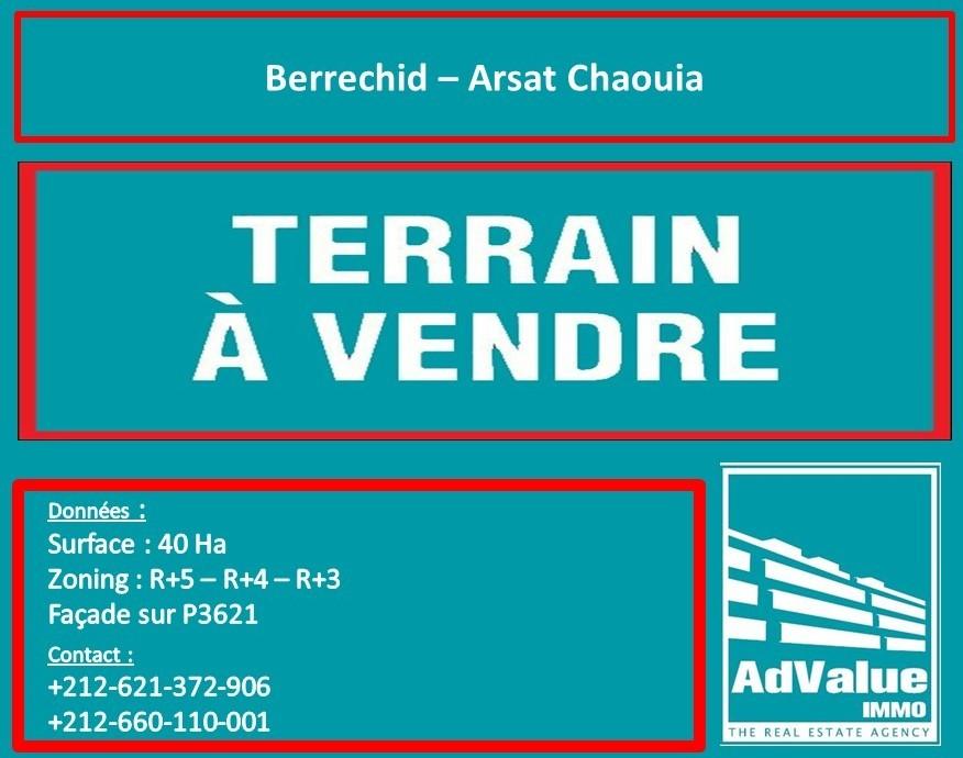DV.511 Terrain périmètre urbain de Berrechid