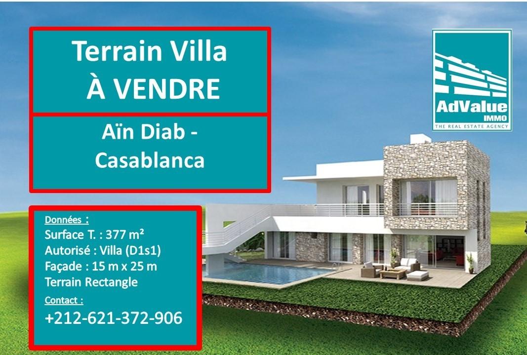 DV.642 : Terrain Villa de 377 m² - Aïn Diab :