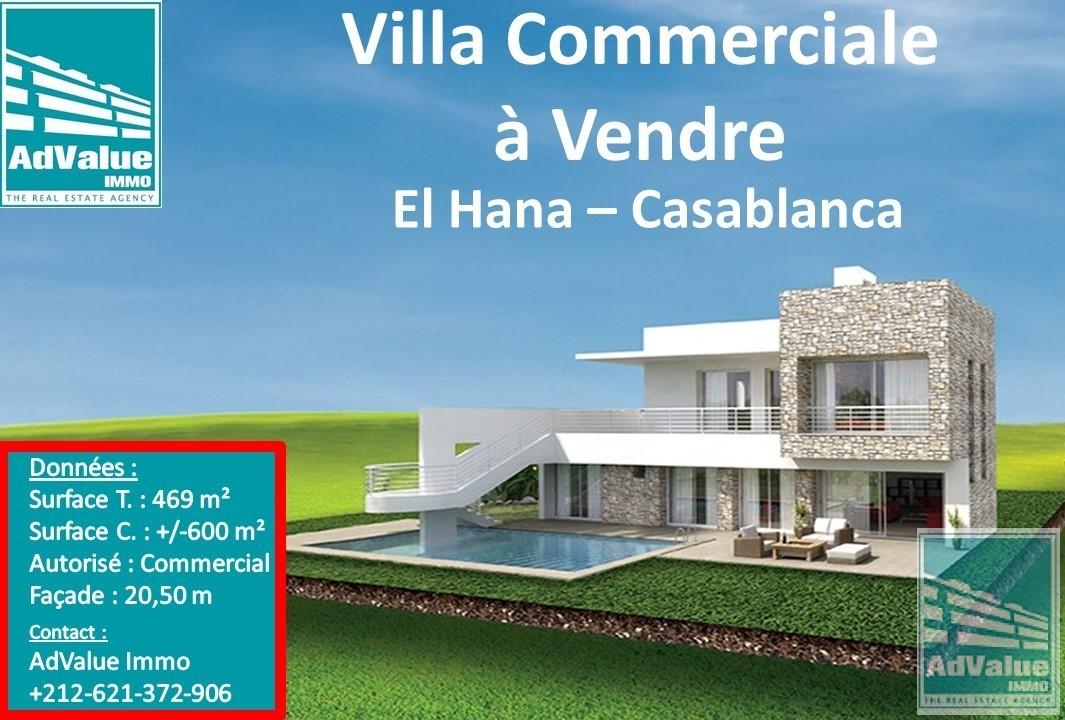 DV.377 : Villa Commercial à El Hana de 469 m² :