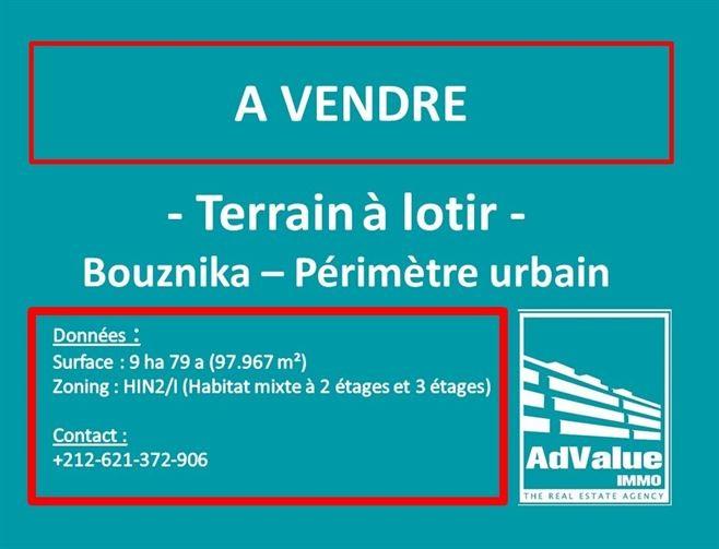 DV.617 : Terrain en R+2 & R+3 à Bouznika :