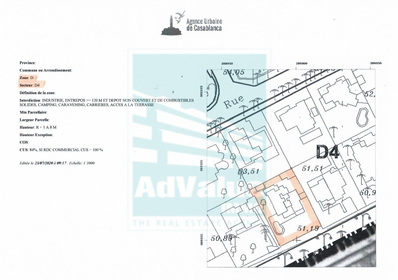 DV.621 : Villa de 1235 m² - Bd Abdelkrim Khattabi :