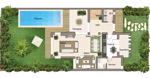 Vente <strong>Villa</strong> Bouskoura Casa Green Town <strong>570 m2</strong> - 3 chambre(s)