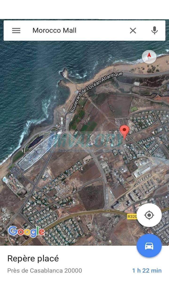 A vendre un lot de villa 1174m² côté Morocco Mall Ain diab