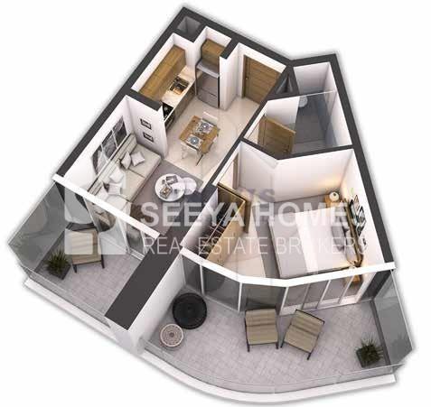 Luxury 1BR Post Handover Payment Plan ZADA | Damac