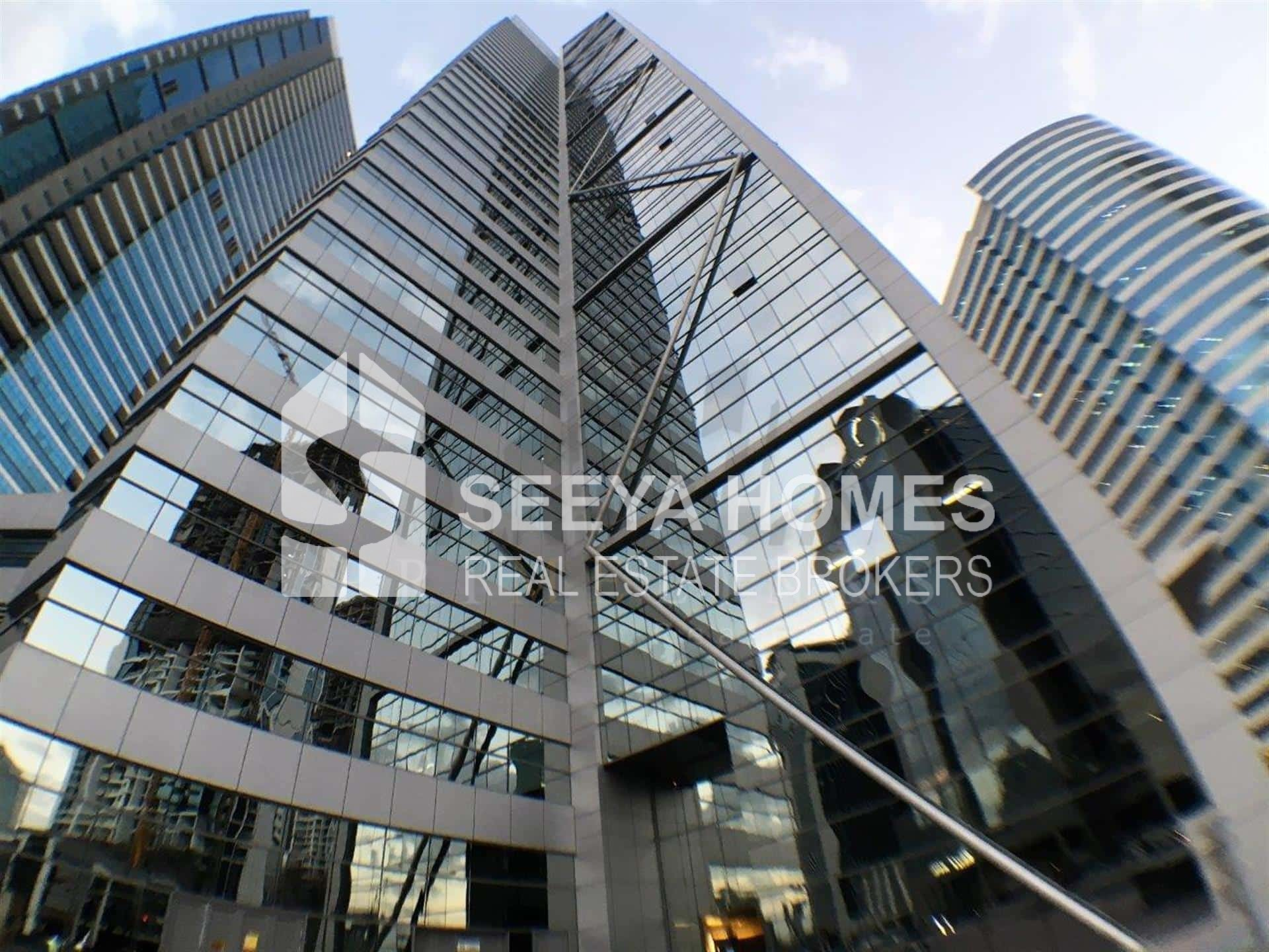 Shell n Core office With Burj Khalifa view in Business Bay