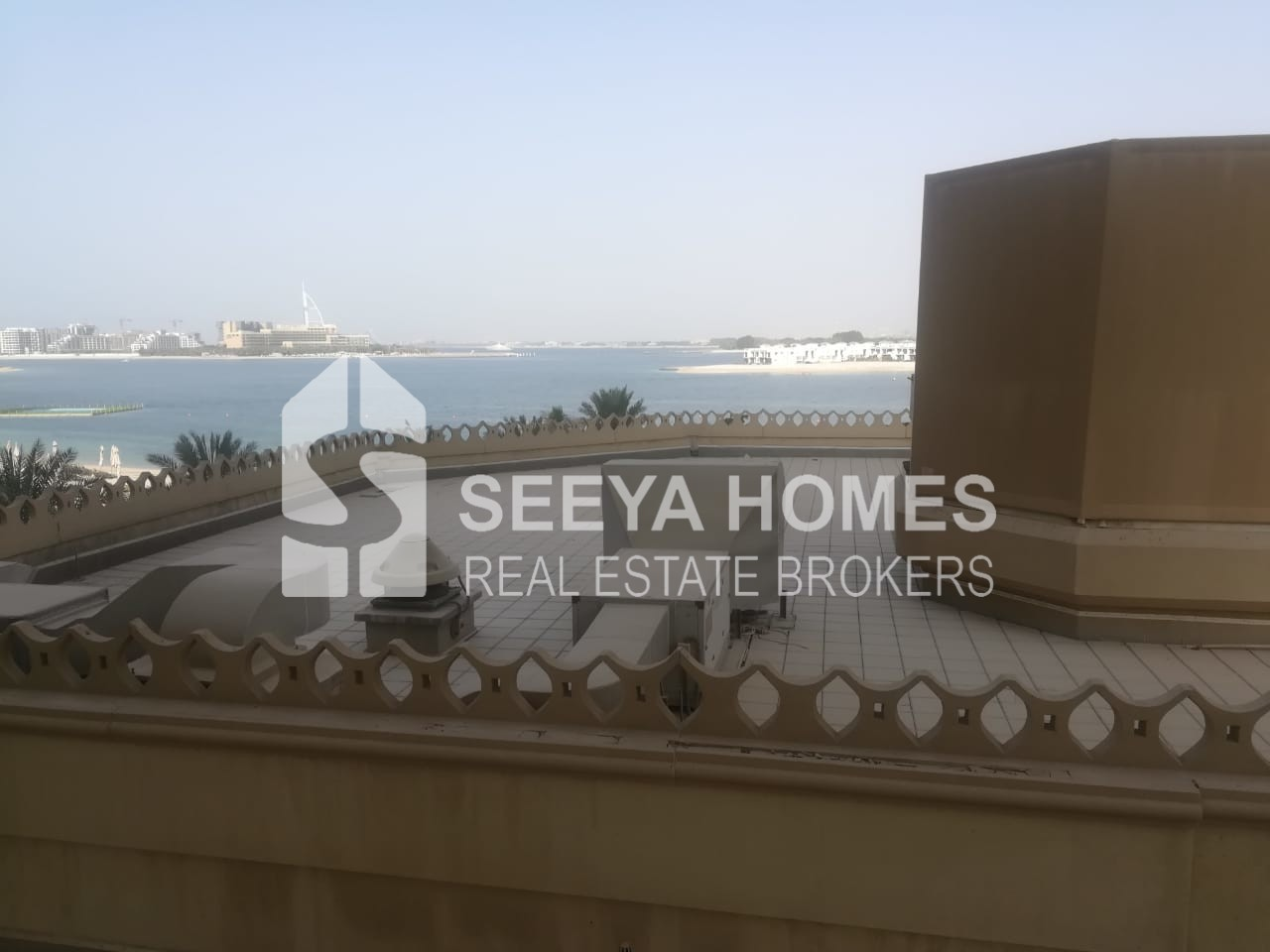 Chiller Free Apt in Palm J for Rent   Sea View