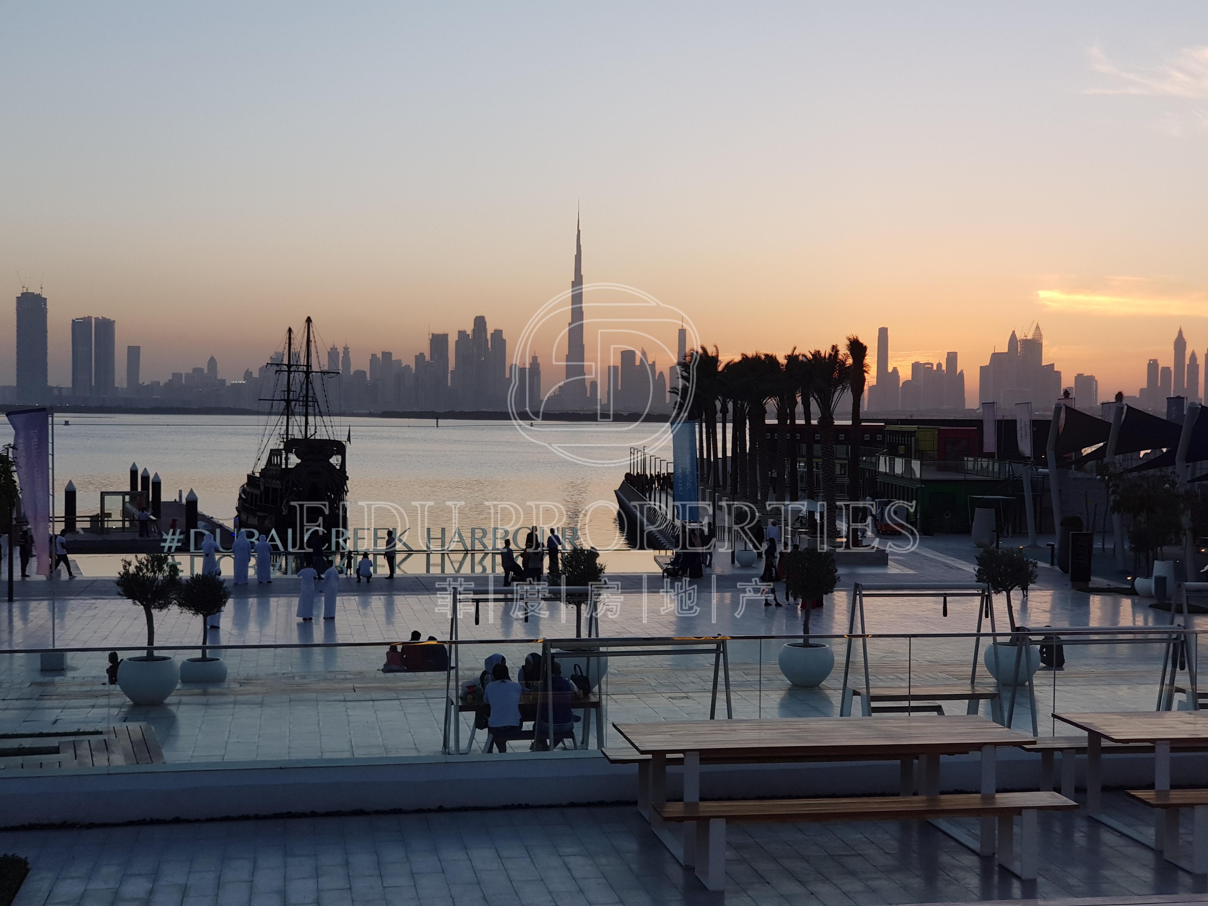 إطلالات برج خليفه وخور دبي | ا...