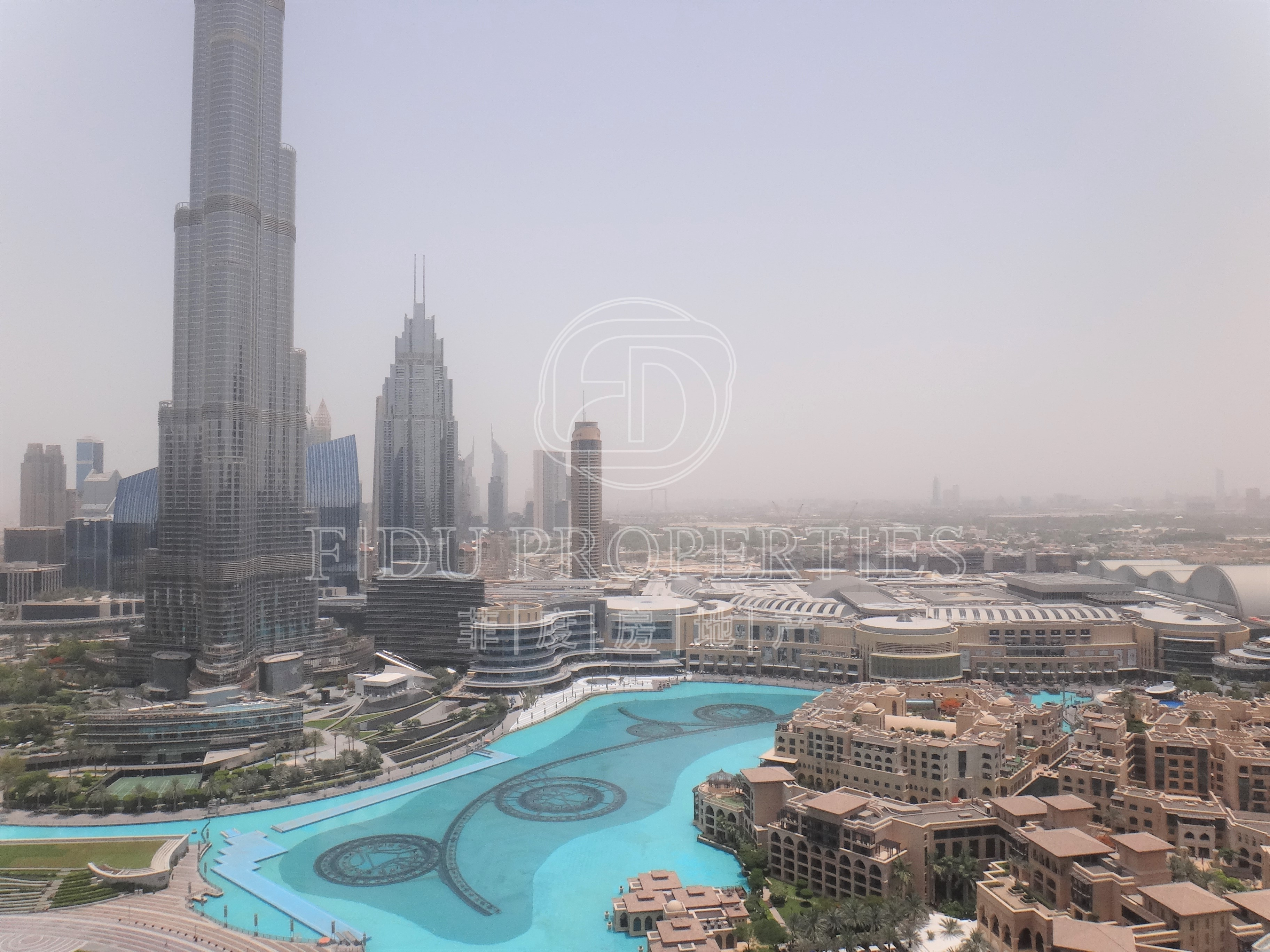 Facing Burj and Fountain | Two...