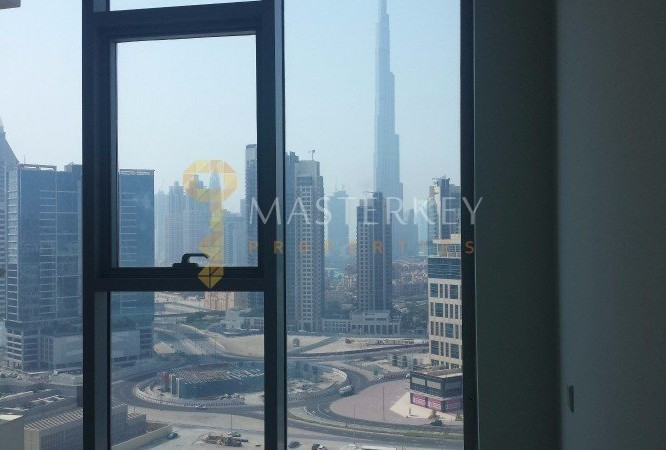 Canal and Burj Khalifa view Rented 1 BR
