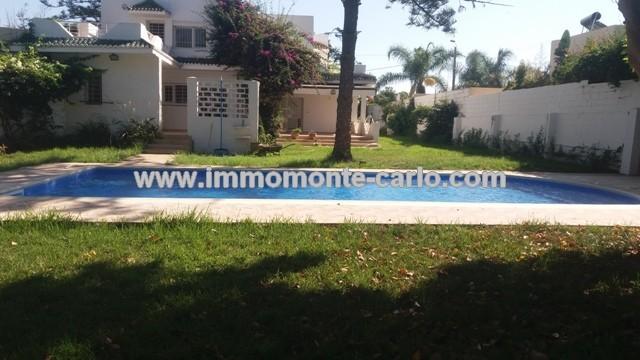Villa à louer Rabat Souissi