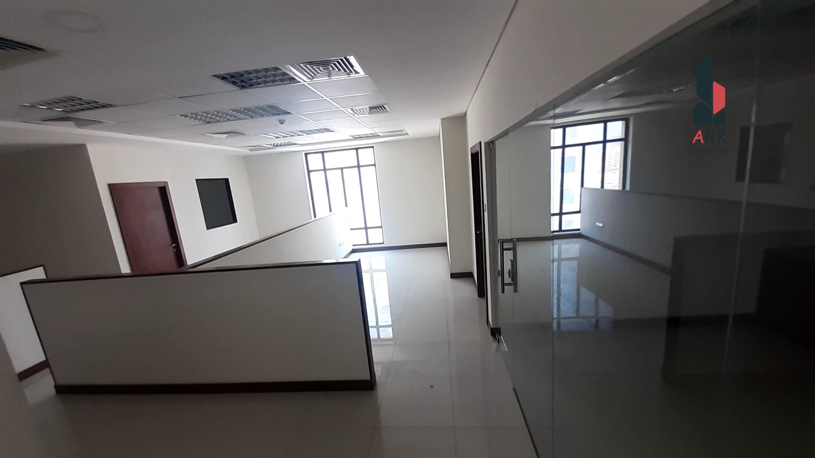 SPACIOUS OFFICE with Partitions, parking, Cent AC.
