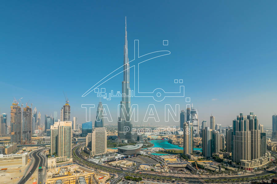 Full Burj view | high floor | large layout – Executive Towers