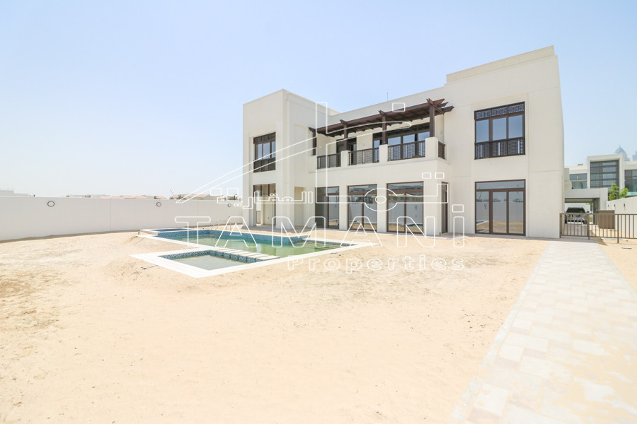 6Br arabic corner plot with burj kahlifa - District One