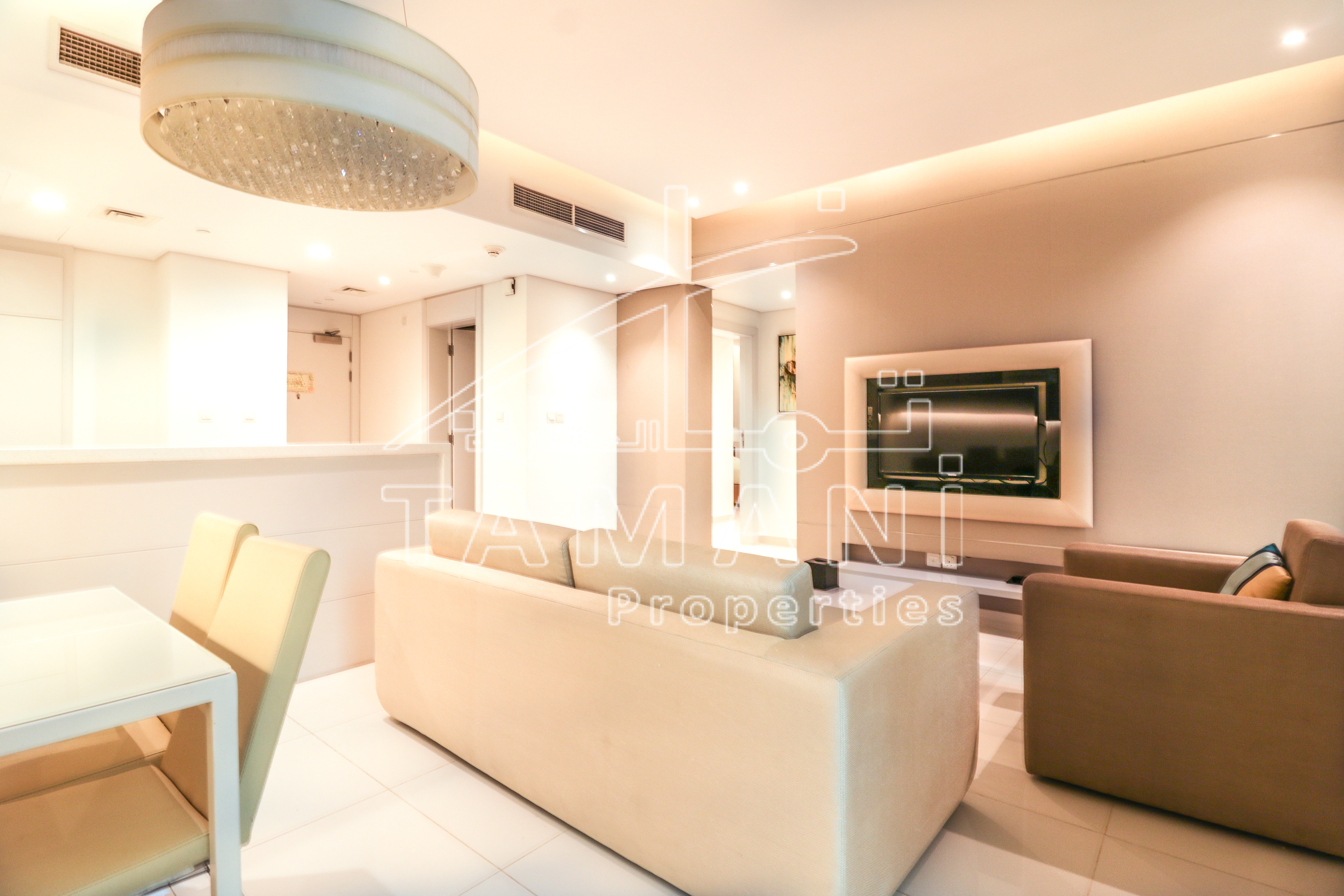 4Chqs 100K Only for 2Bed Fully Furnished - DAMAC Maison The Vogue
