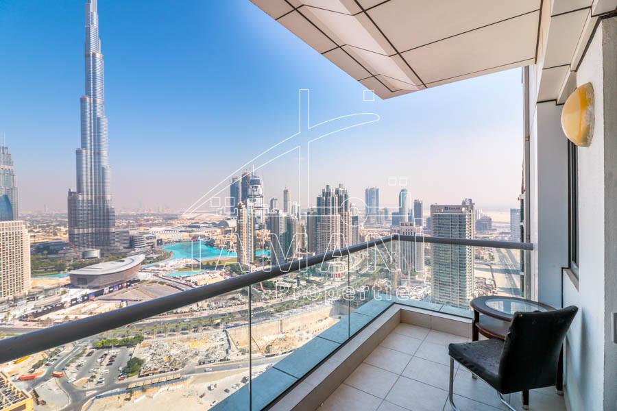 01 Series Tower B | 2Bedrooms Burj Khalifa View - Executive Towers