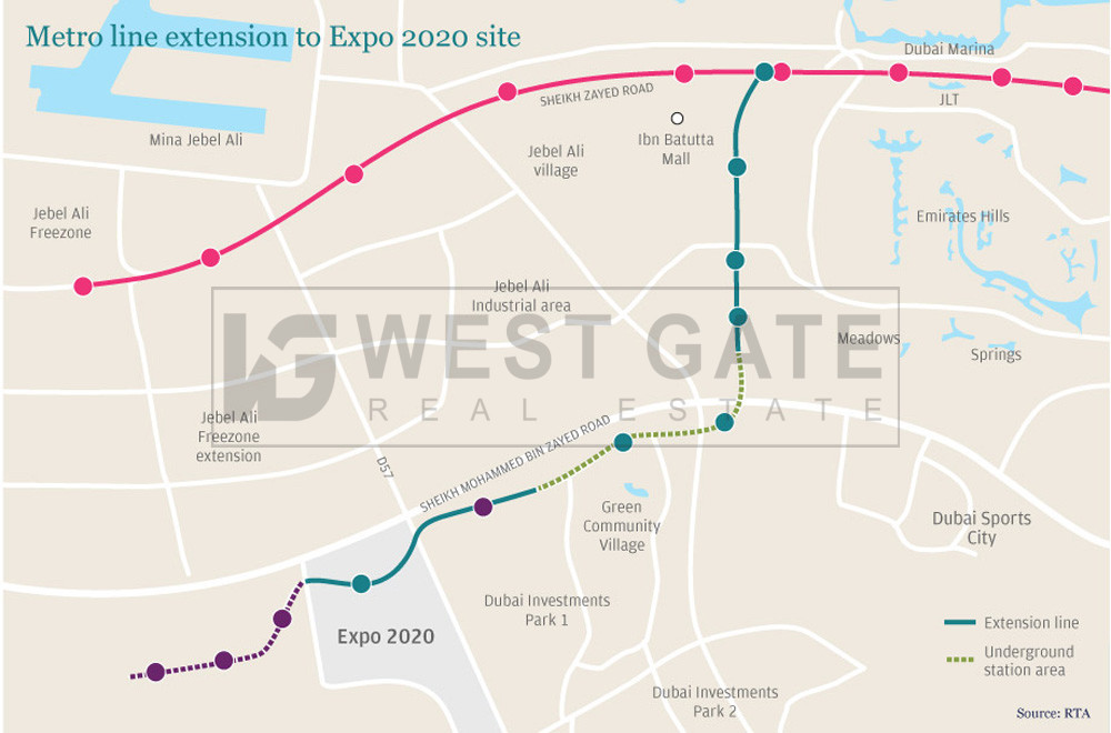metro-line-gm10-opposite-to-discovery-gardens