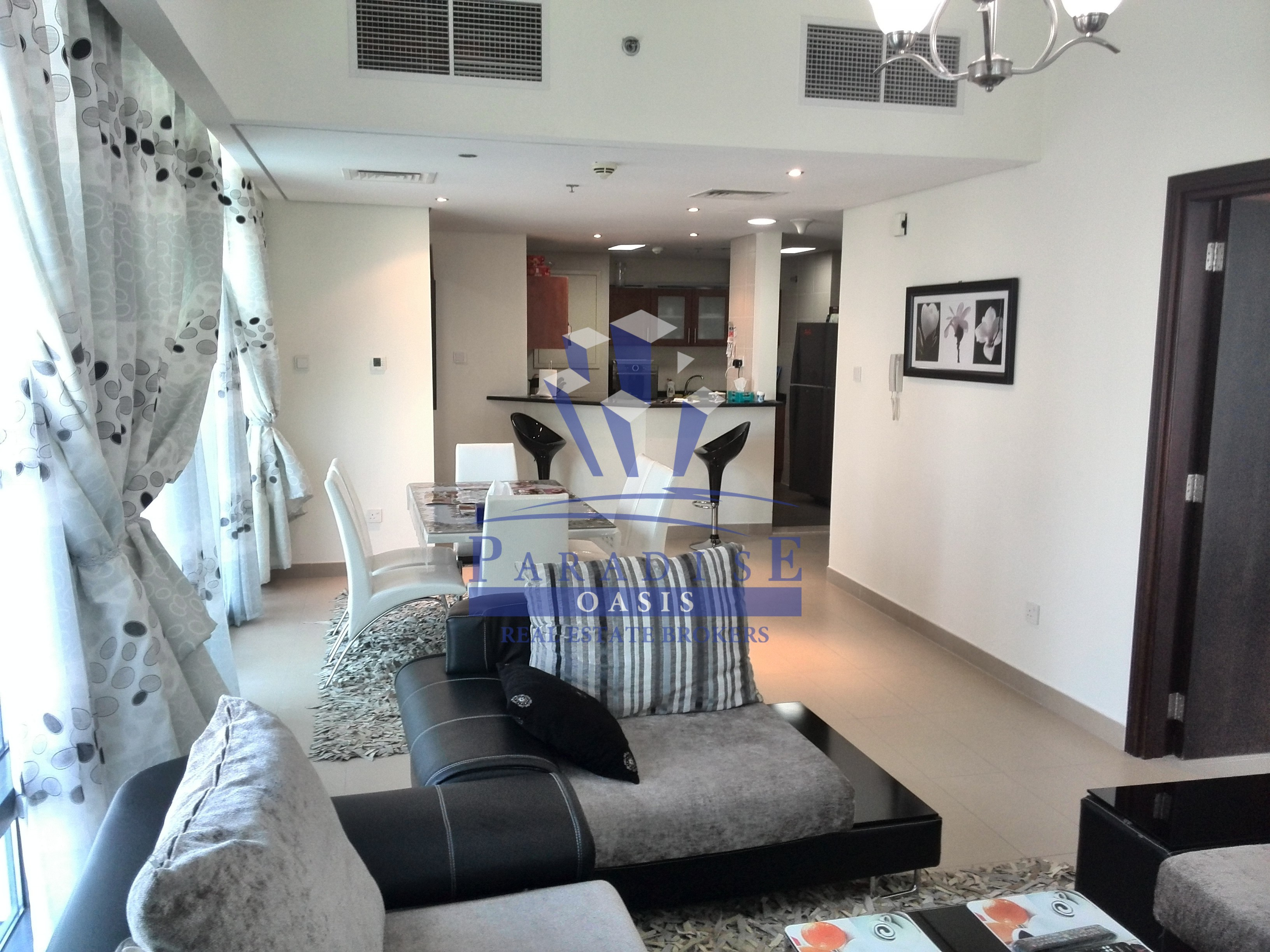 furnished 2BR for rent in JLT lakeside Residenc tower - myUAEguide.com