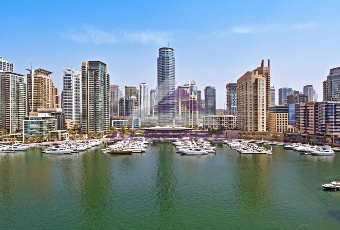 2BR / Full Marina View / Mid Floor / Rented !