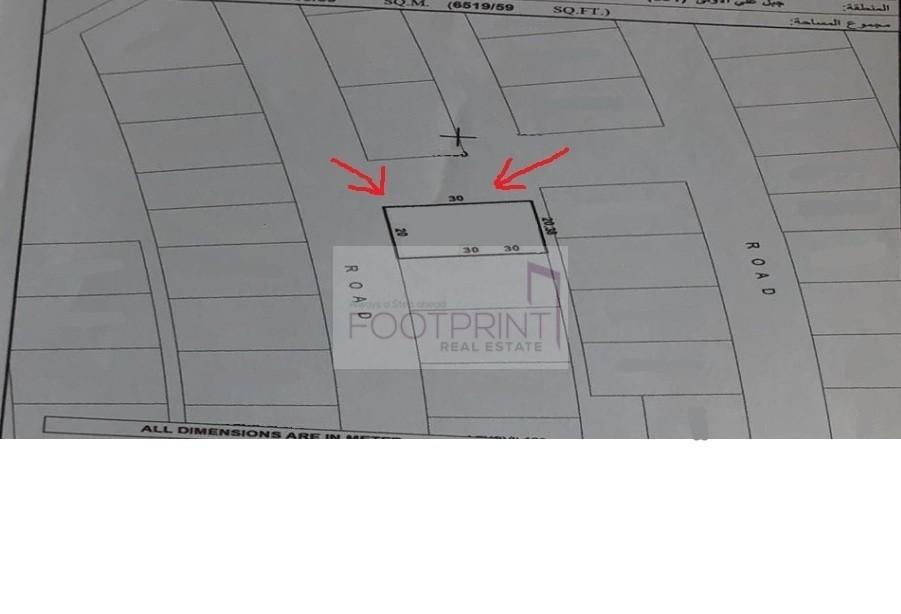 Most unique 3 street cornered villa plot