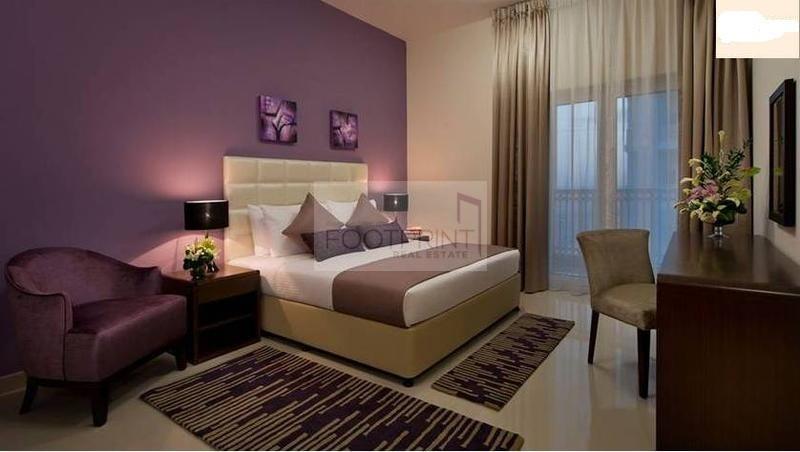 Furnished 1BH DownTown Jebel Ali 4CHQS |