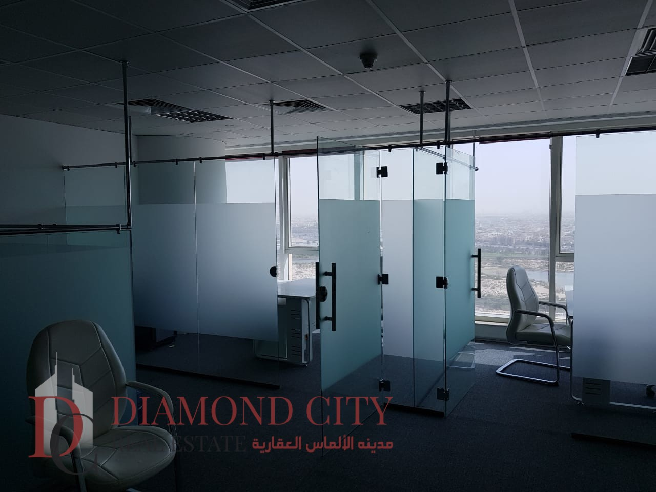 Furnished Office Glass Partition BusinessBay