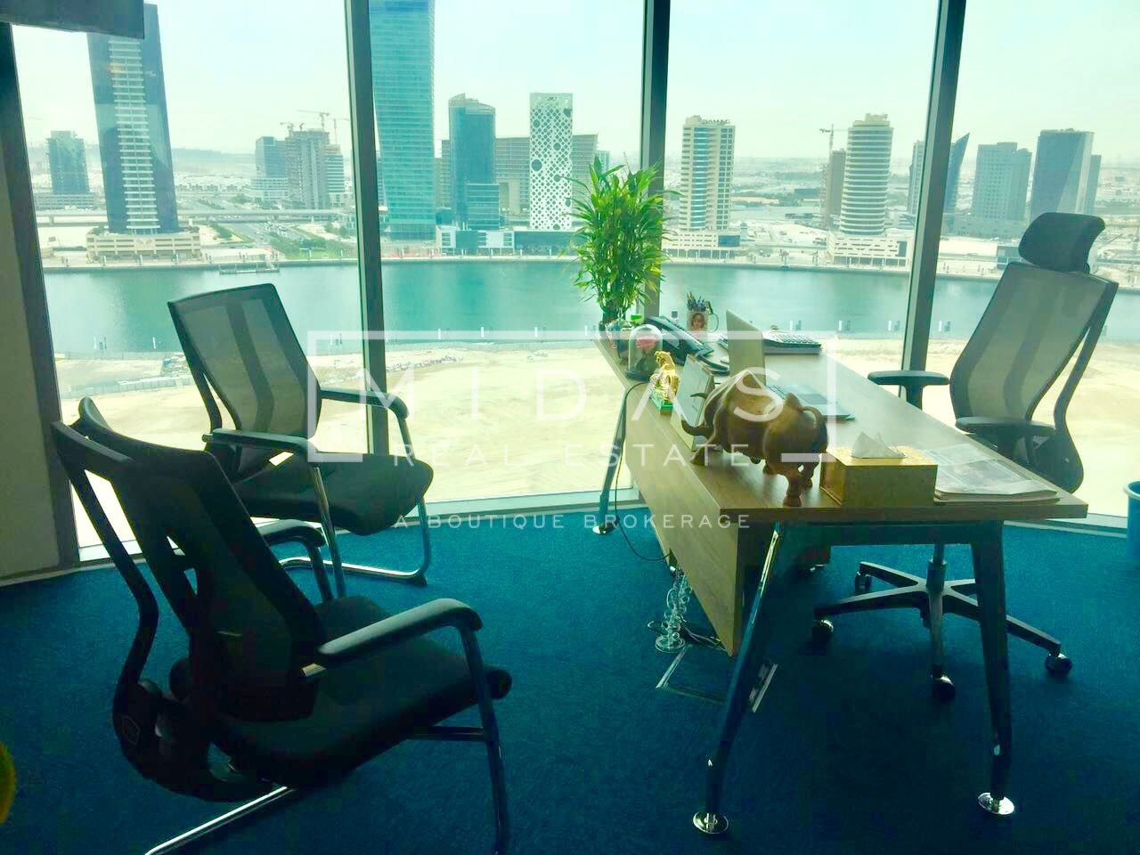 Glass Partitioned | Canal View | Fully Furnished