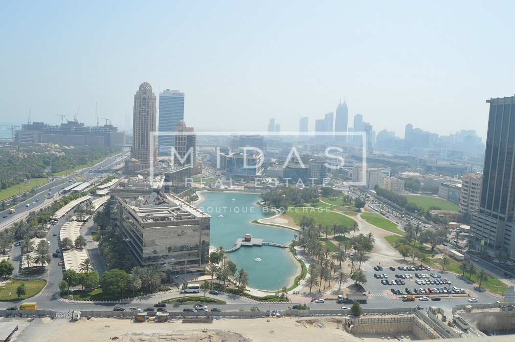 EXCLUSIVE!! 3BR + Maids | Media City & Palm View