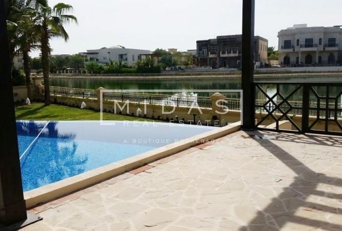 Massive Plot | 6BR Villa | Facing Lake Worth to See!